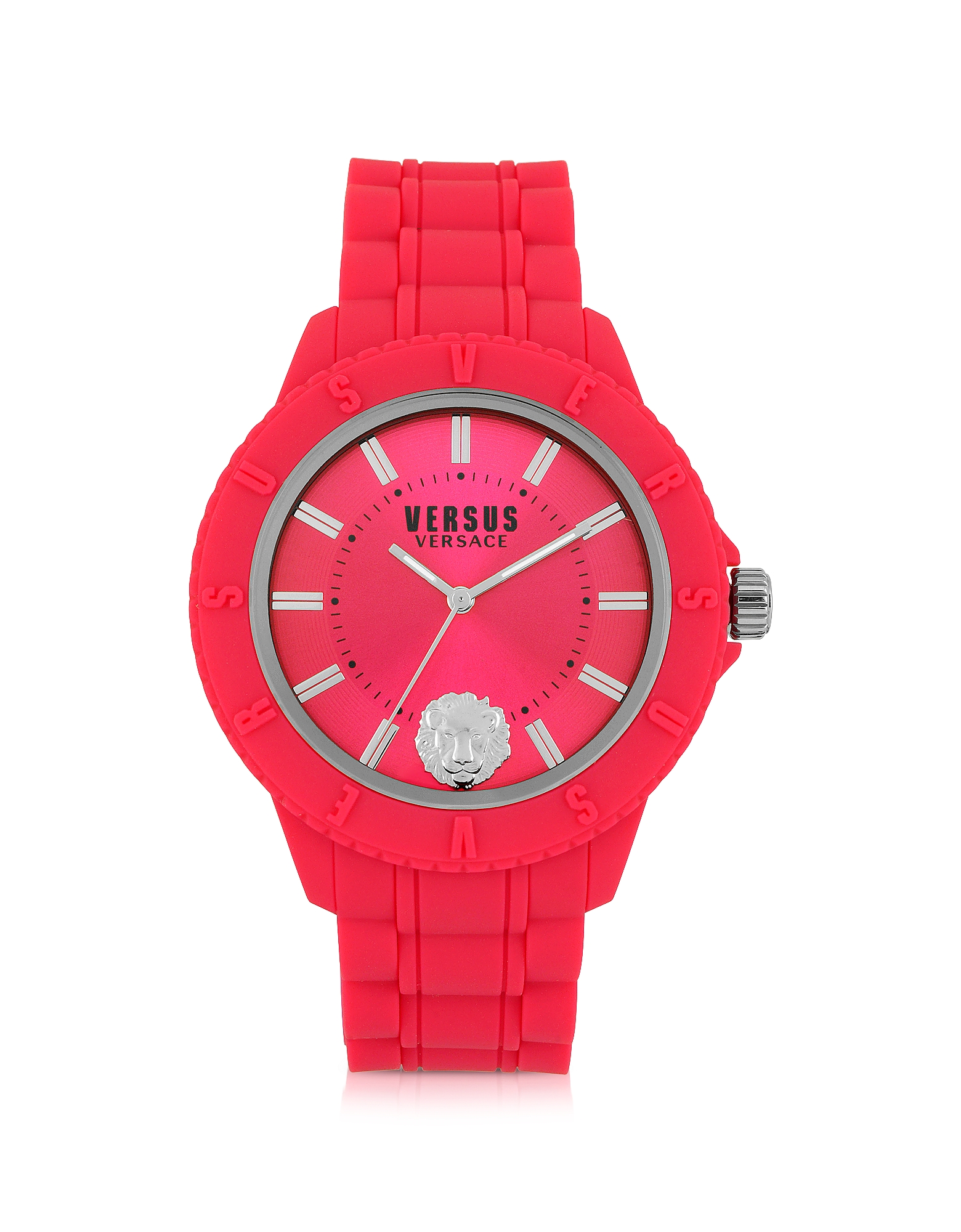 Versace Versus Women's Watches, Tokyo Silicon and Silver Tone Stainless Steel Unisex Watch
