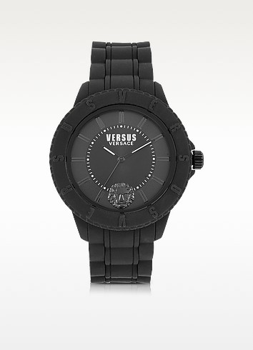 Versace Versus Tokyo - Черные Часы Унисекс с Силиконовым Ремешком