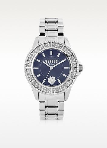 Tokyo Silver Tone Stainless Steel Unisex Watch w/Crystals - Versace Versus