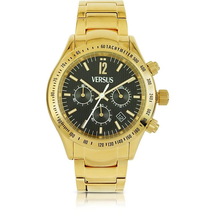 Cosmopolitan Gold Stainless Steel Men's Cronograph Watch - Versace Versus