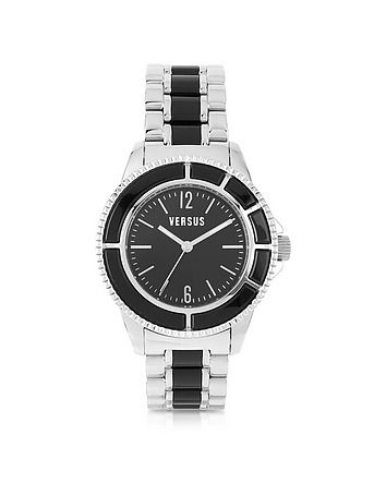 Versace Versus - Tokyo Crystal 42 Stainless Steel and Black Unisex Watch