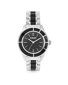 Tokyo Crystal 42 Stainless Steel and Black Unisex Watch - Versace Versus