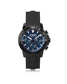 Aberdeen Black Stainless Steel and Silicone Strap Men's Chronograph Watch - Versace Versus