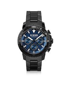 Aberdeen - Черные Мужские Часы Хронограф из Нержавеющей Стали - Versace Versus