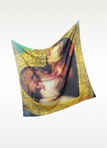 Signature Silk & Cotton Square Scarf - Vivienne Westwood