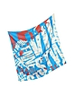 Sky Blue Atlas Print Silk Square Scarf - Vivienne Westwood