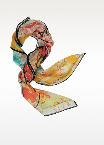 Meaningless Print Silk Square Scarf - Vivienne Westwood