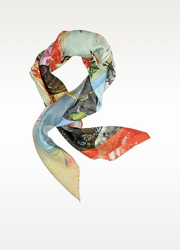 Multicolor Silk Square Scarf - Vivienne Westwood