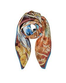 Vivienne & Andreas Print Twill Silk Square Scarf - Vivienne Westwood