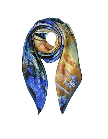 Eșarfă de damă VIVIENNE WESTWOOD, fashion, din mătase, multicoloră