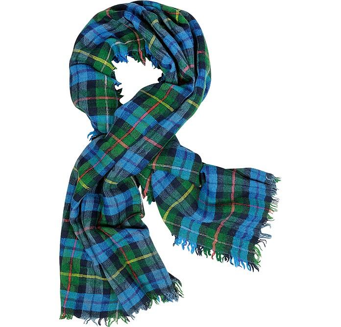 Tartan Logo Wool Blend Stole - Vivienne Westwood