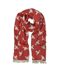 Absence Of Orbs Print Wool Blend Stole - Vivienne Westwood