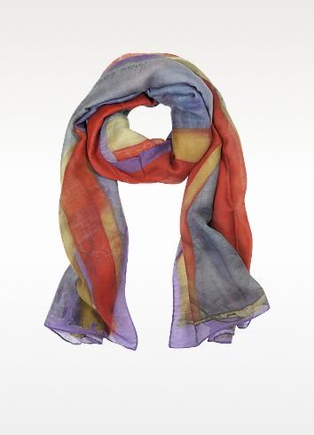 Cotton & Silk Multicolor Long Scarf - Vivienne Westwood