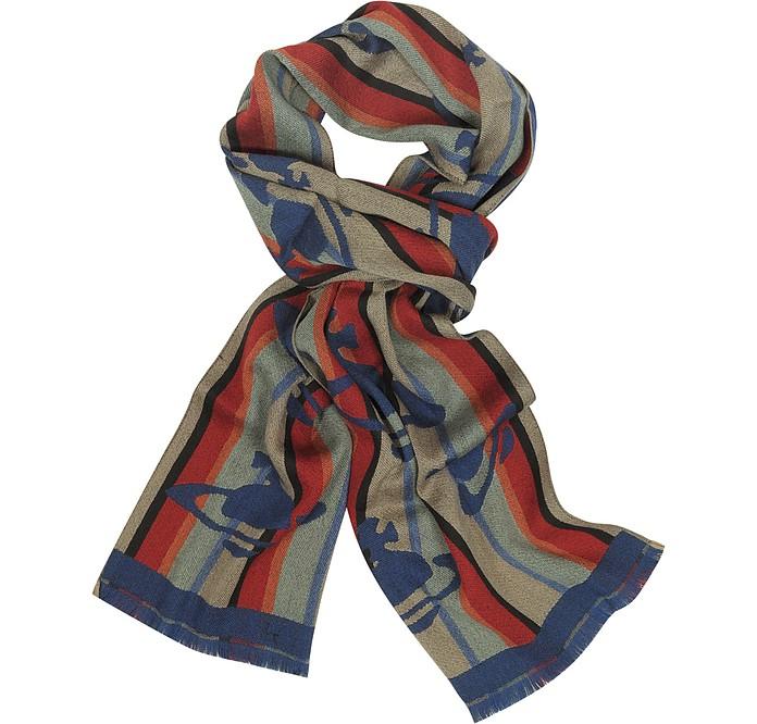 Logo Woven Wool Scarf - Vivienne Westwood