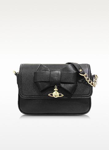 Bow Black Eco-Leather Crossbody Bag - Vivienne Westwood