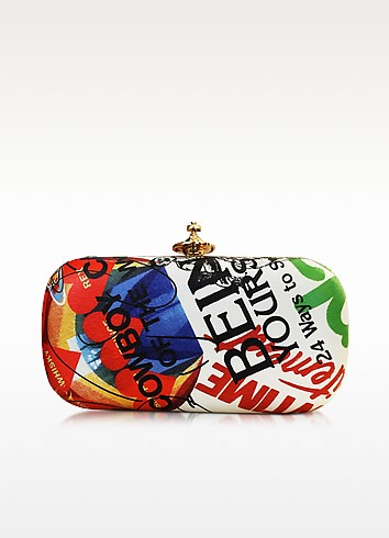 Meaningless Print Multicolor Clutch - Vivienne Westwood