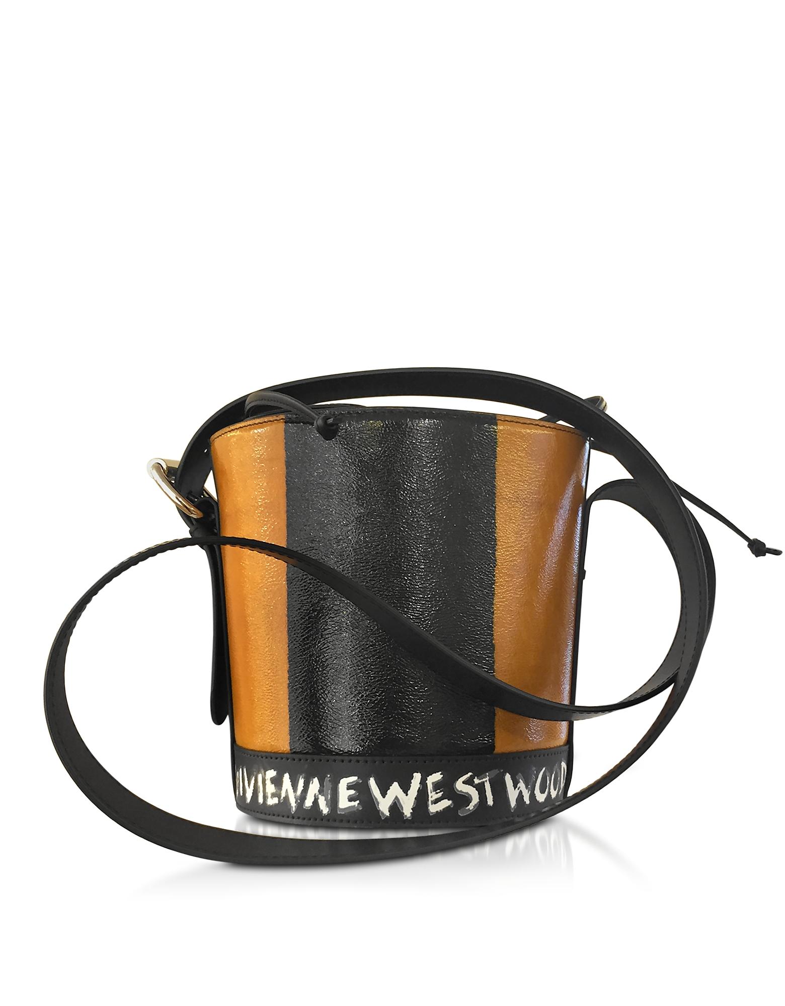 Vivienne Westwood Buckingham - Фирменная Сумка Ковш из Кожи Цвета Загара