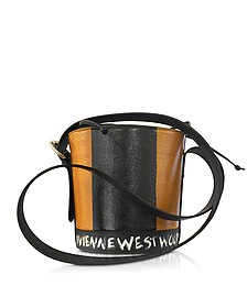Buckingham Tan Leather Signature Bucket Bag - Vivienne Westwood