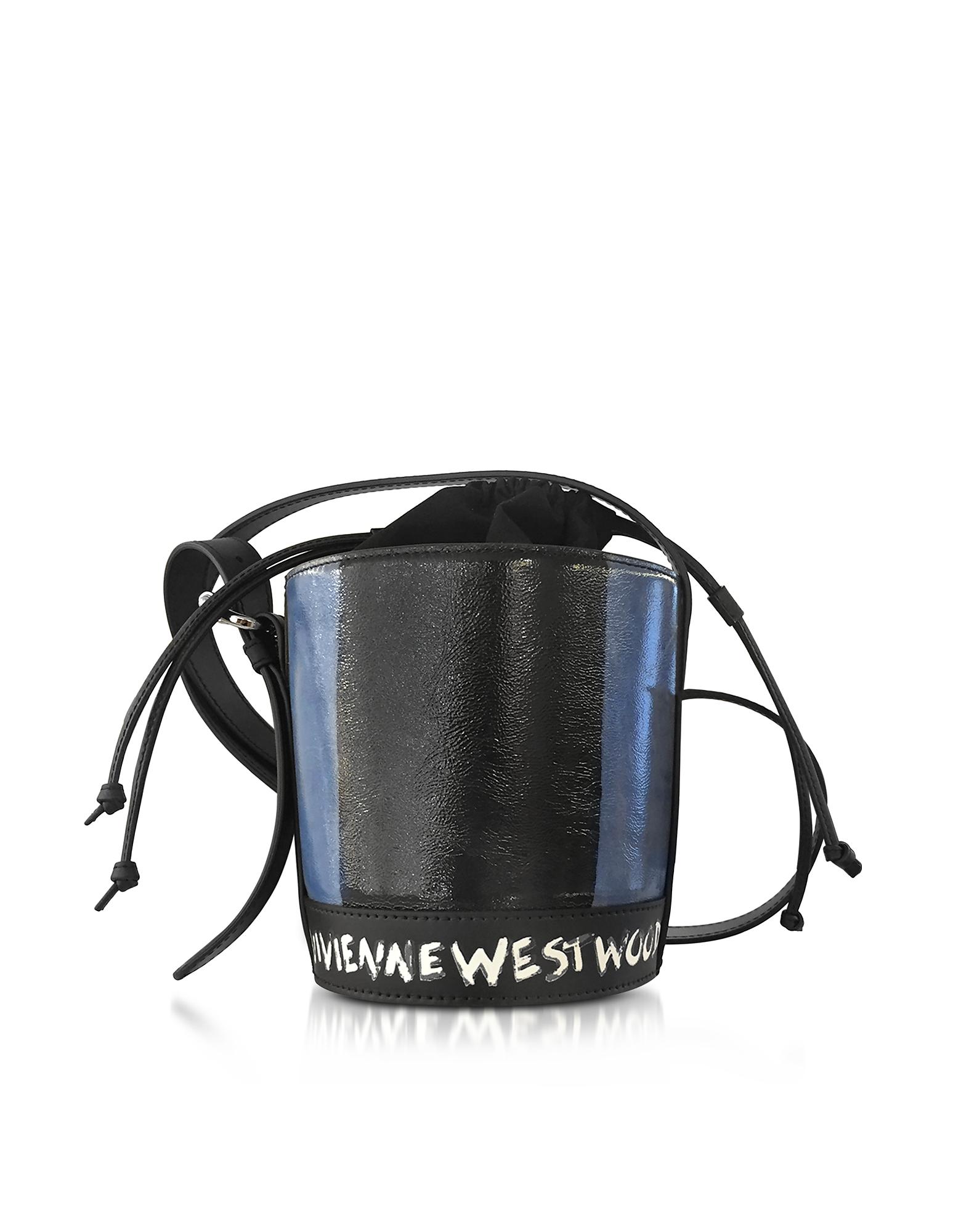 Vivienne Westwood Buckingham - Маленькая Фирменная Кожаная Сумка Ковш