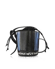 Buckingham Blue Mini Leather Signature Bucket Bag - Vivienne Westwood