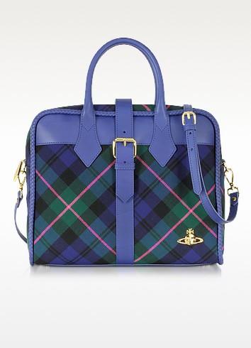 Winter Tartan Cobalt Blue Bag - Vivienne Westwood