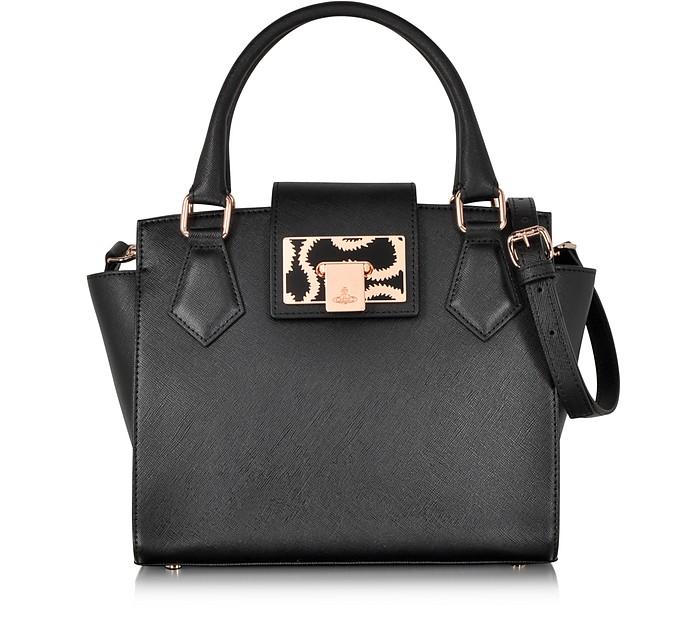 Black Opio Saffiano Small Handbag - Vivienne Westwood