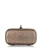 Vivienne Westwood Verona Medium Clutch aus metallischem Leder in rosegold vw130416-023-00