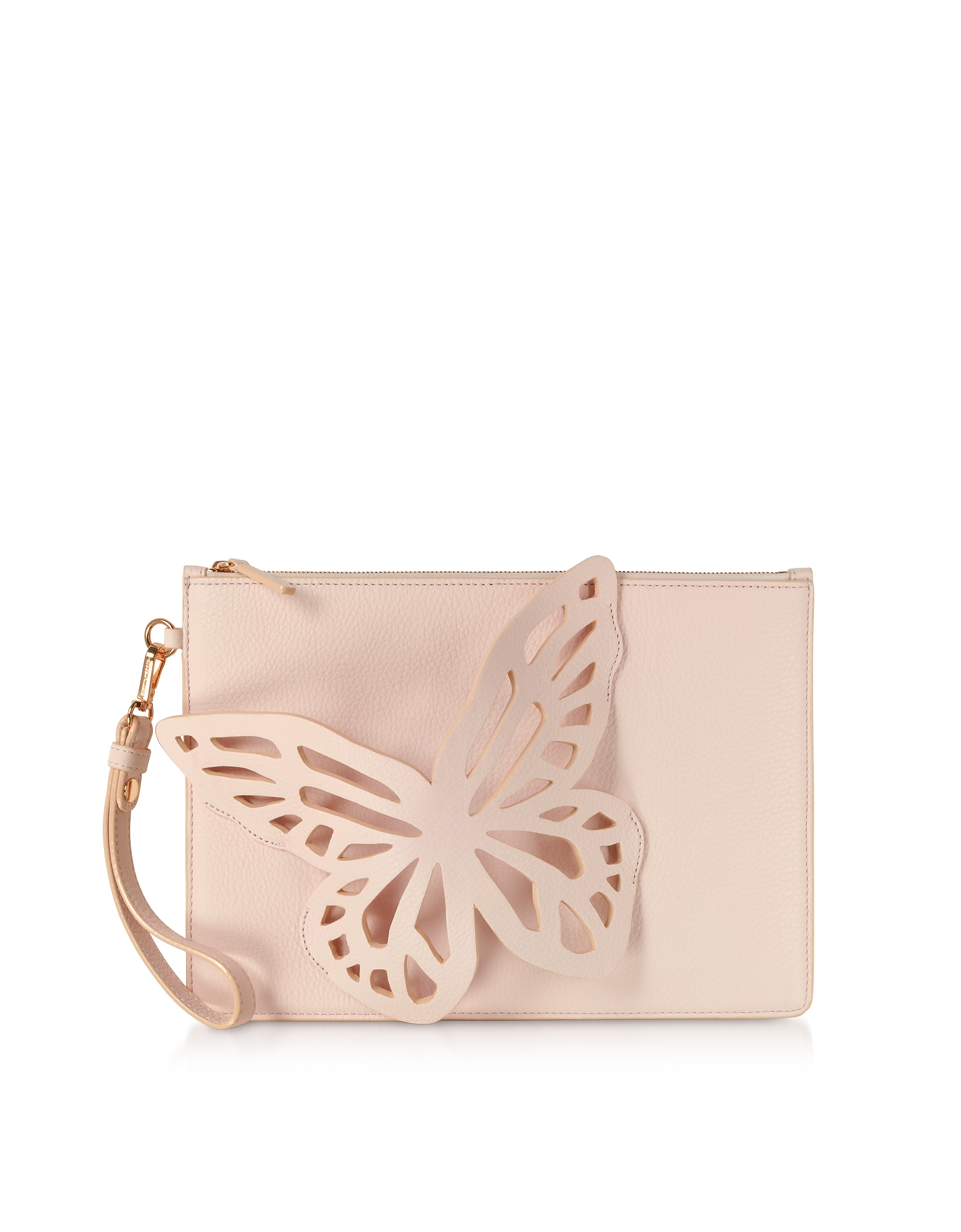 Sophia Webster Handbags, Sunkissed Pink Flossy Butterfly Pouchette