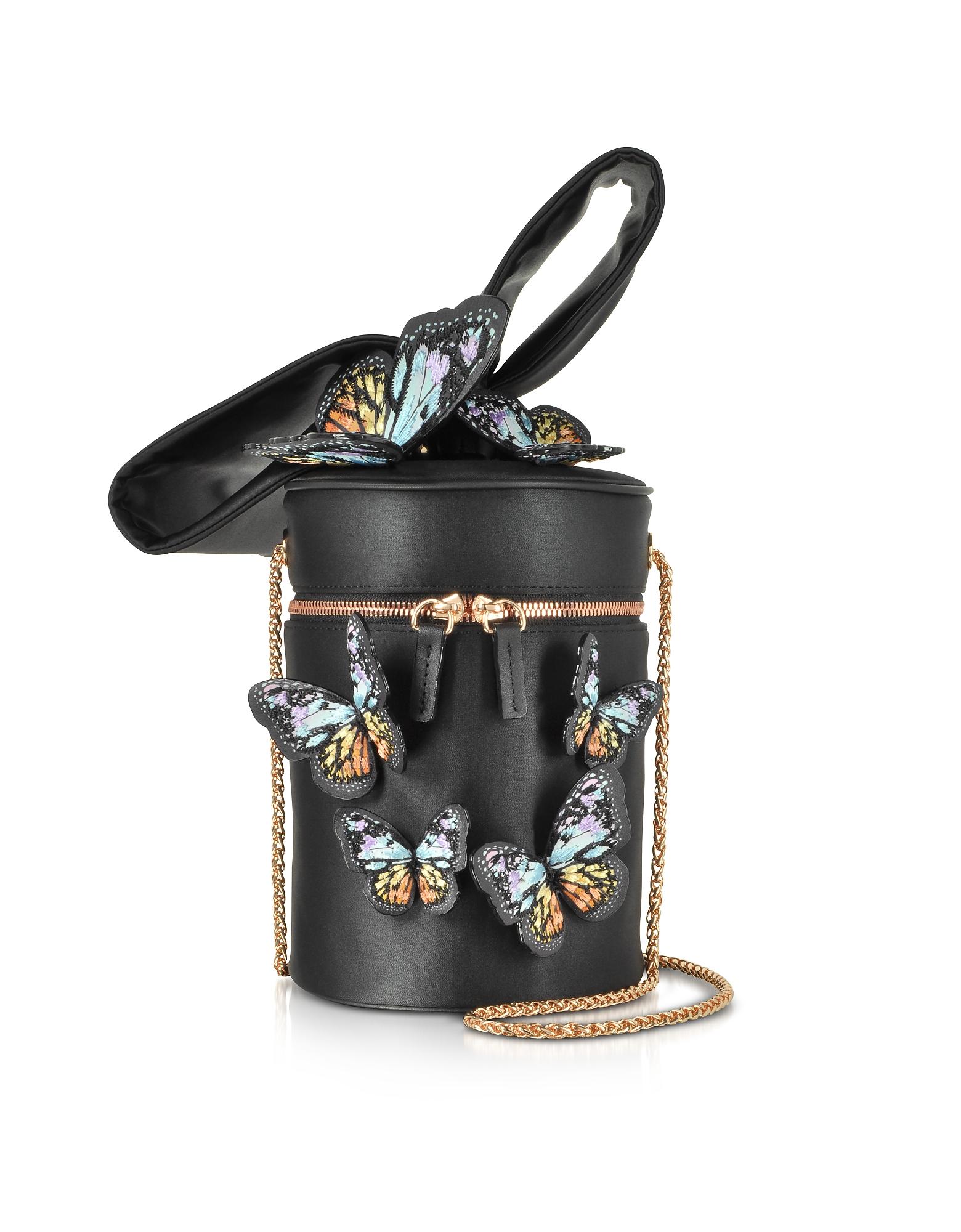 Sophia Webster Handbags, Black & Rainbow Bonnie Butterfly Cross Body Bag