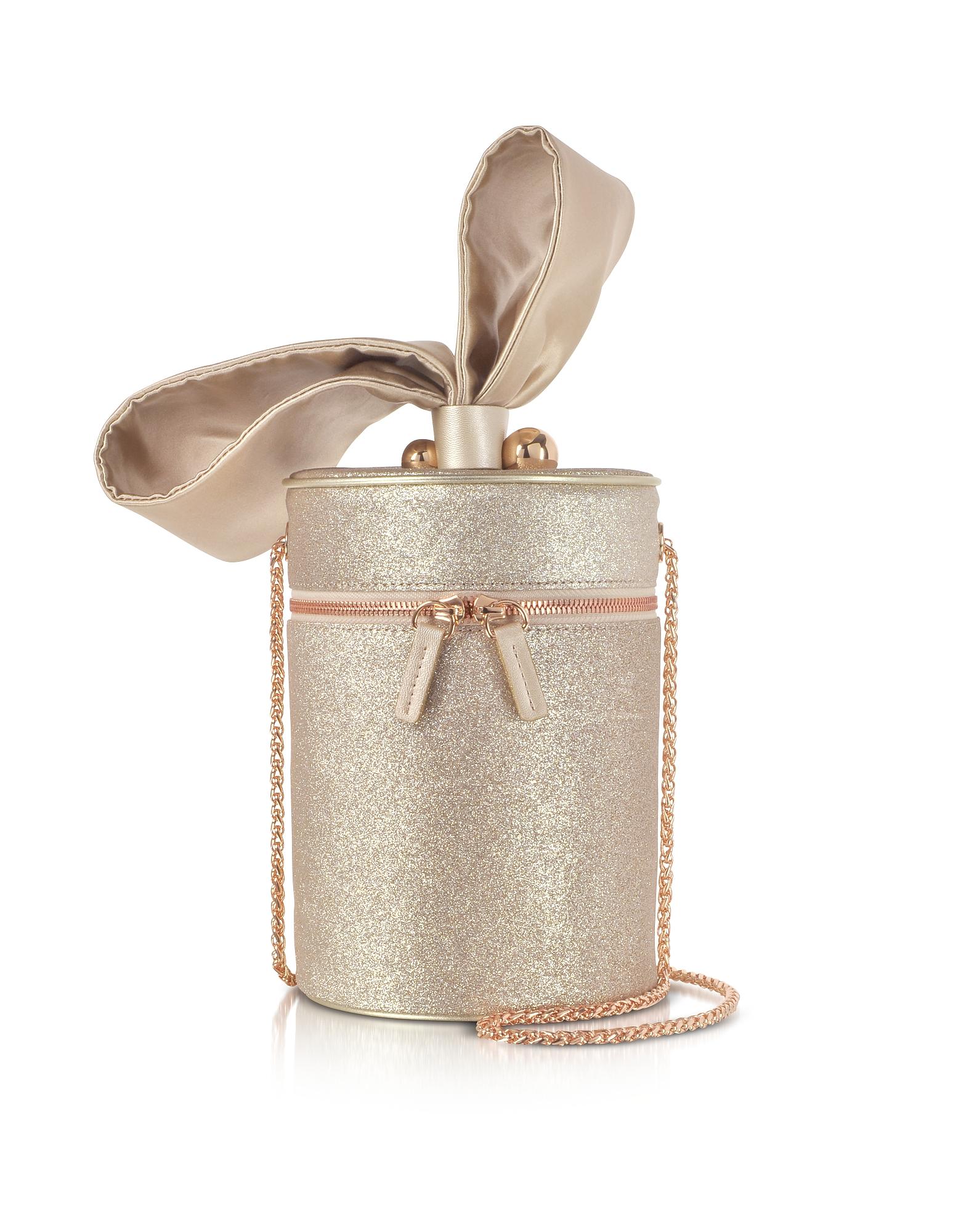 Sophia Webster Handbags, Champagne Bonnie Glitter Cross Body Bag