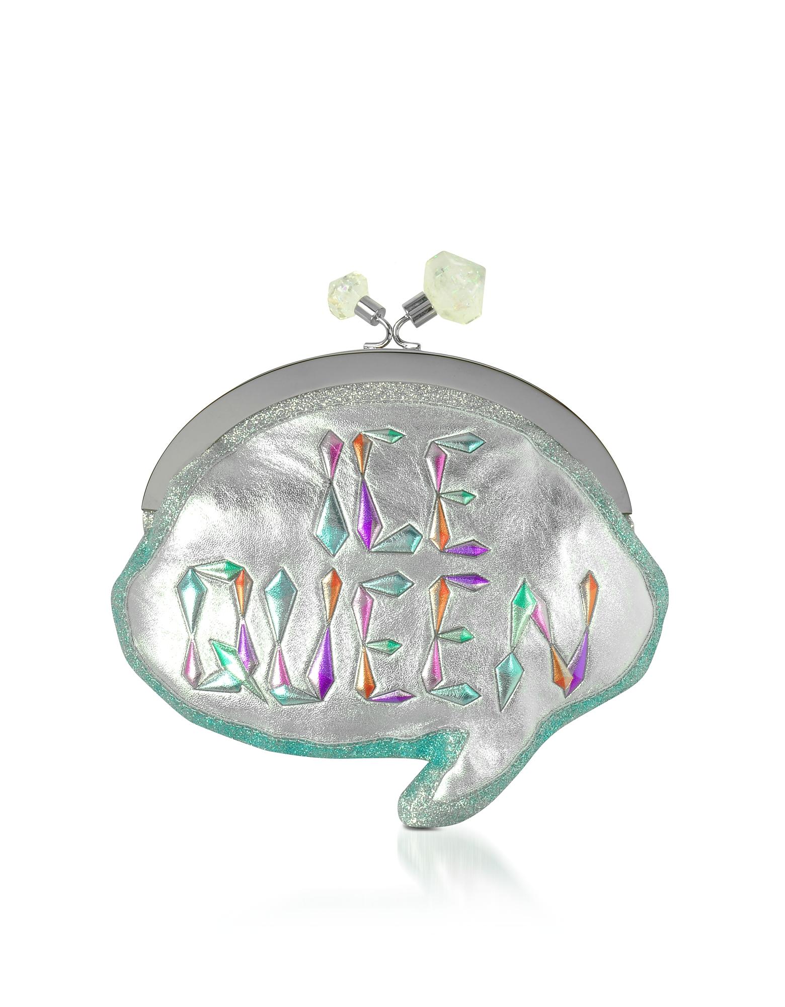 Sophia Webster Handbags, Ice Queen Speech Metallic Pochette w/Chain Strap