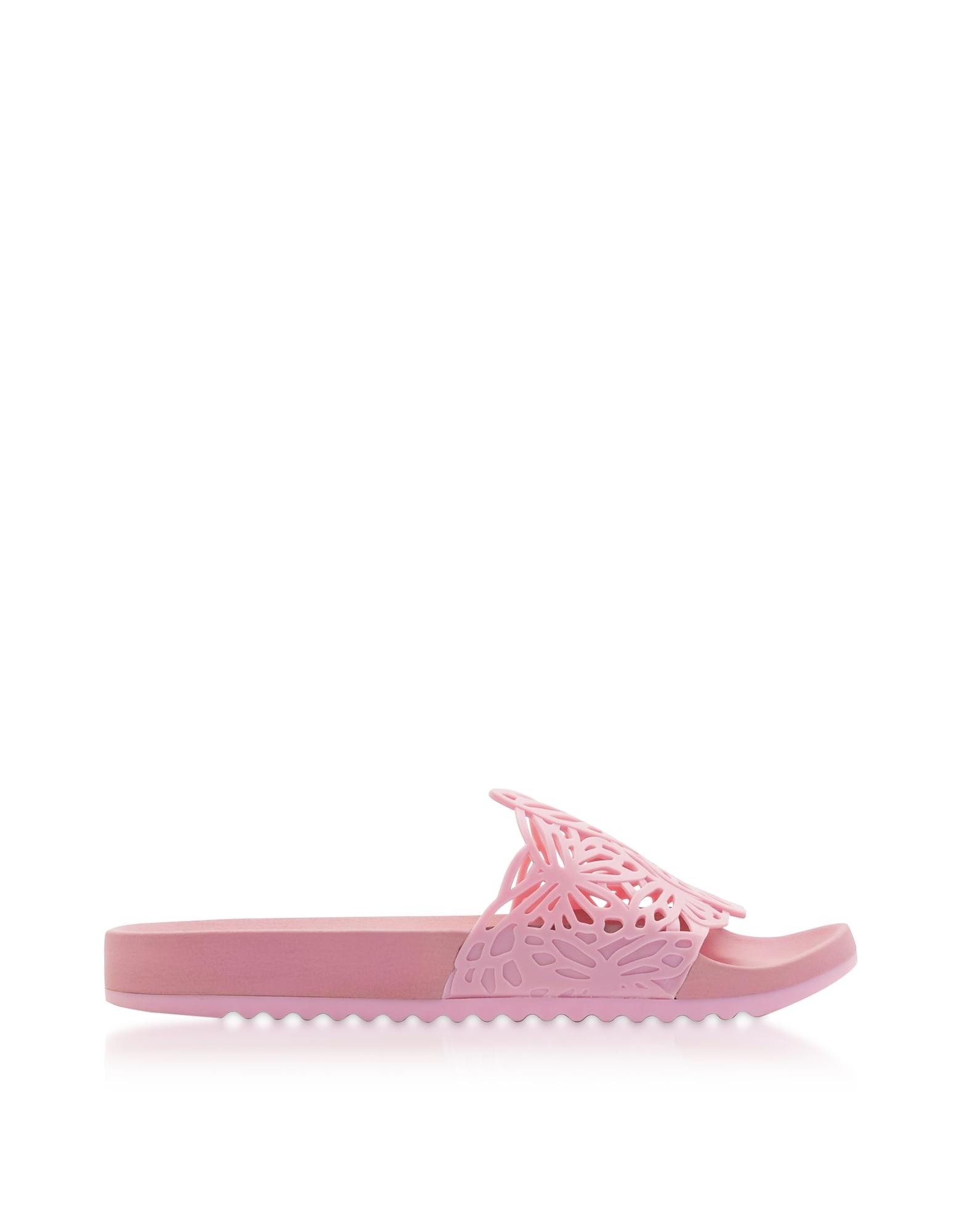 Lia - Светло-розовые Шлепанцы из ПВХ с Бабочками