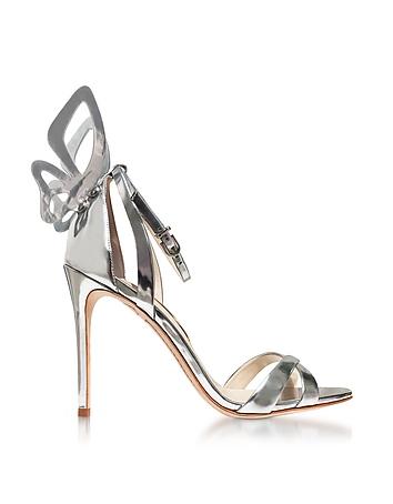 Silver Mirror Leather Madame Chiara Sandals