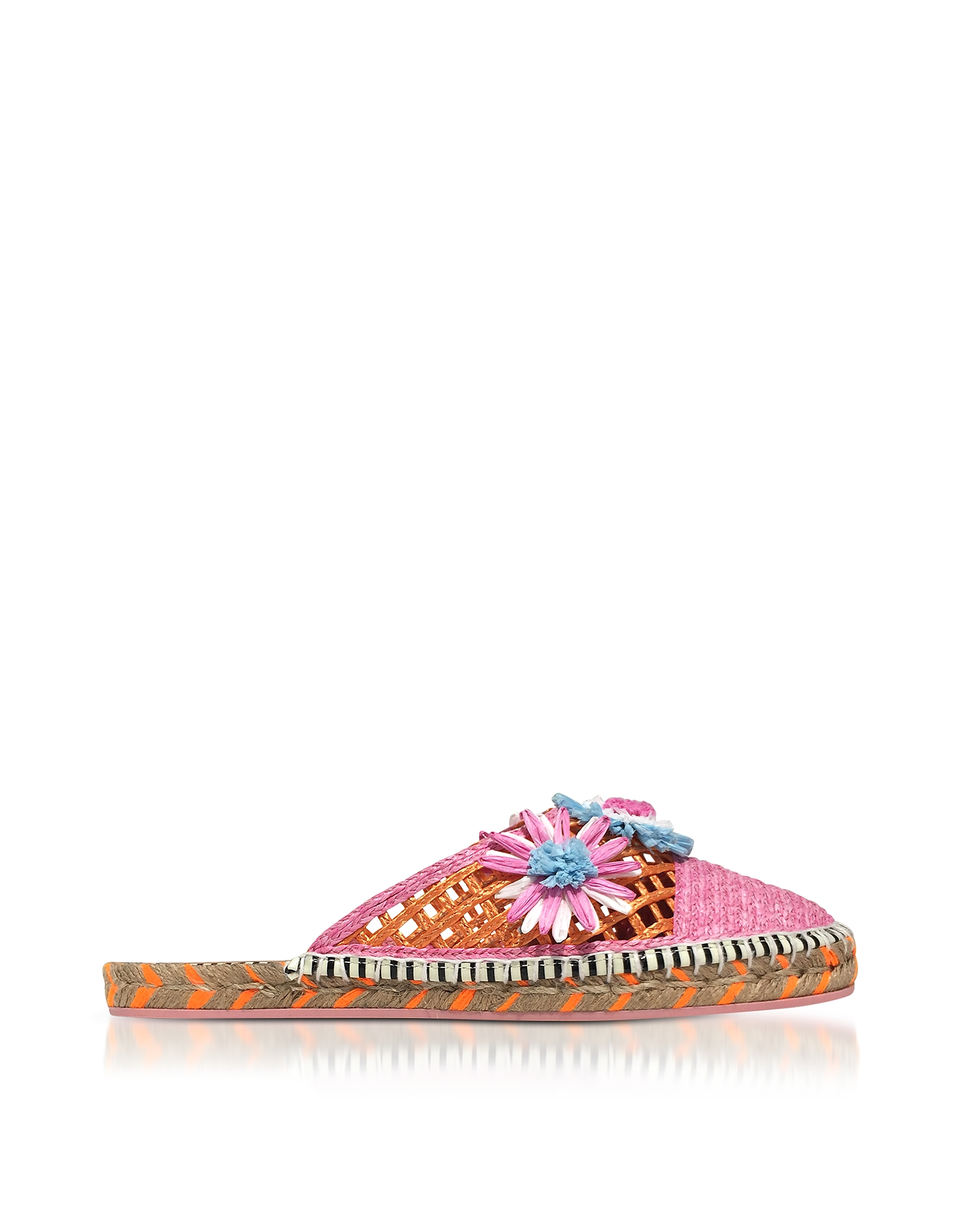 Sophia Webster Shoes, Jute and Leather Tansy Espadrille Slippers
