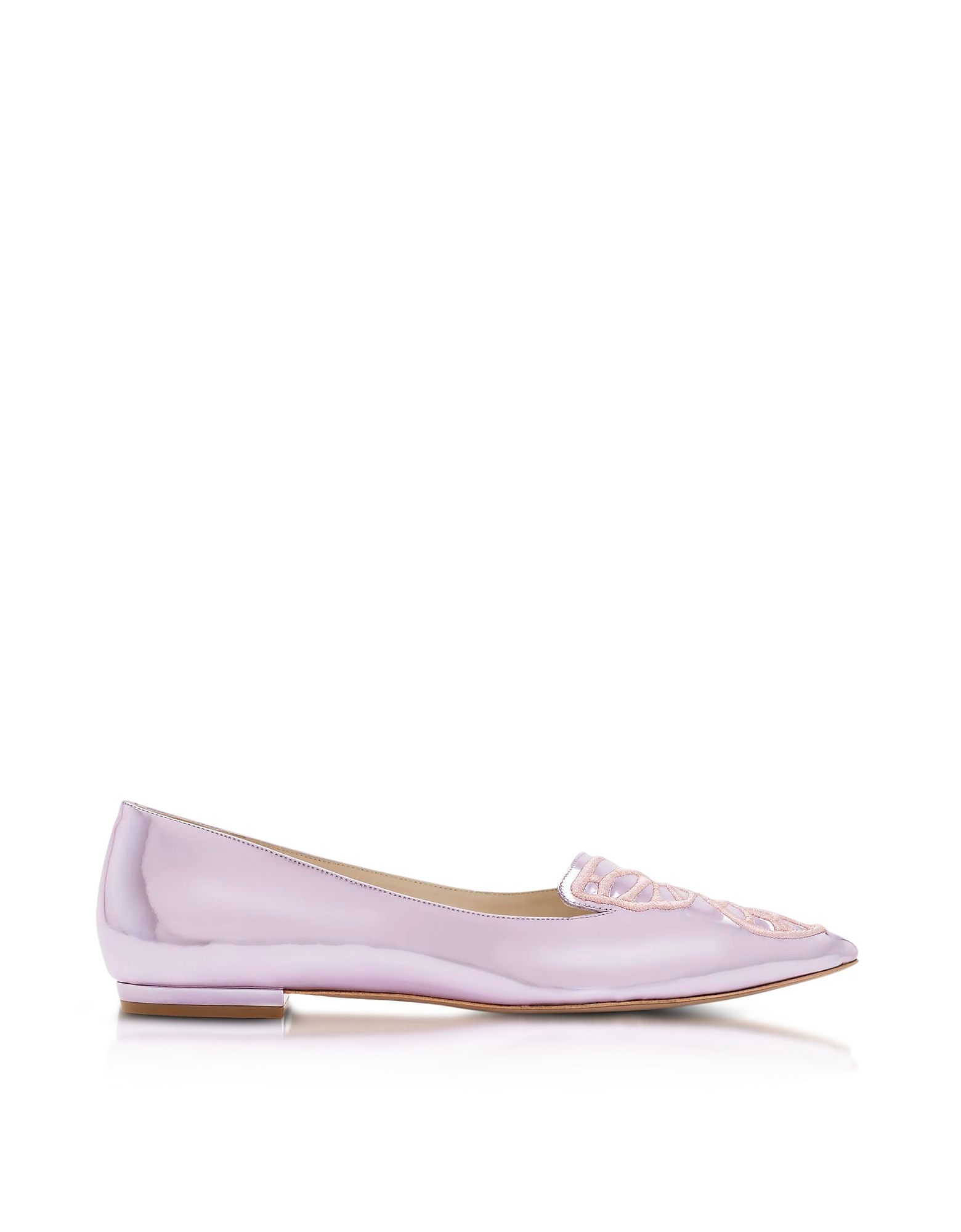 Sophia Webster Shoes, Metallic Pink Bibi Butterfly Flat Ballerina