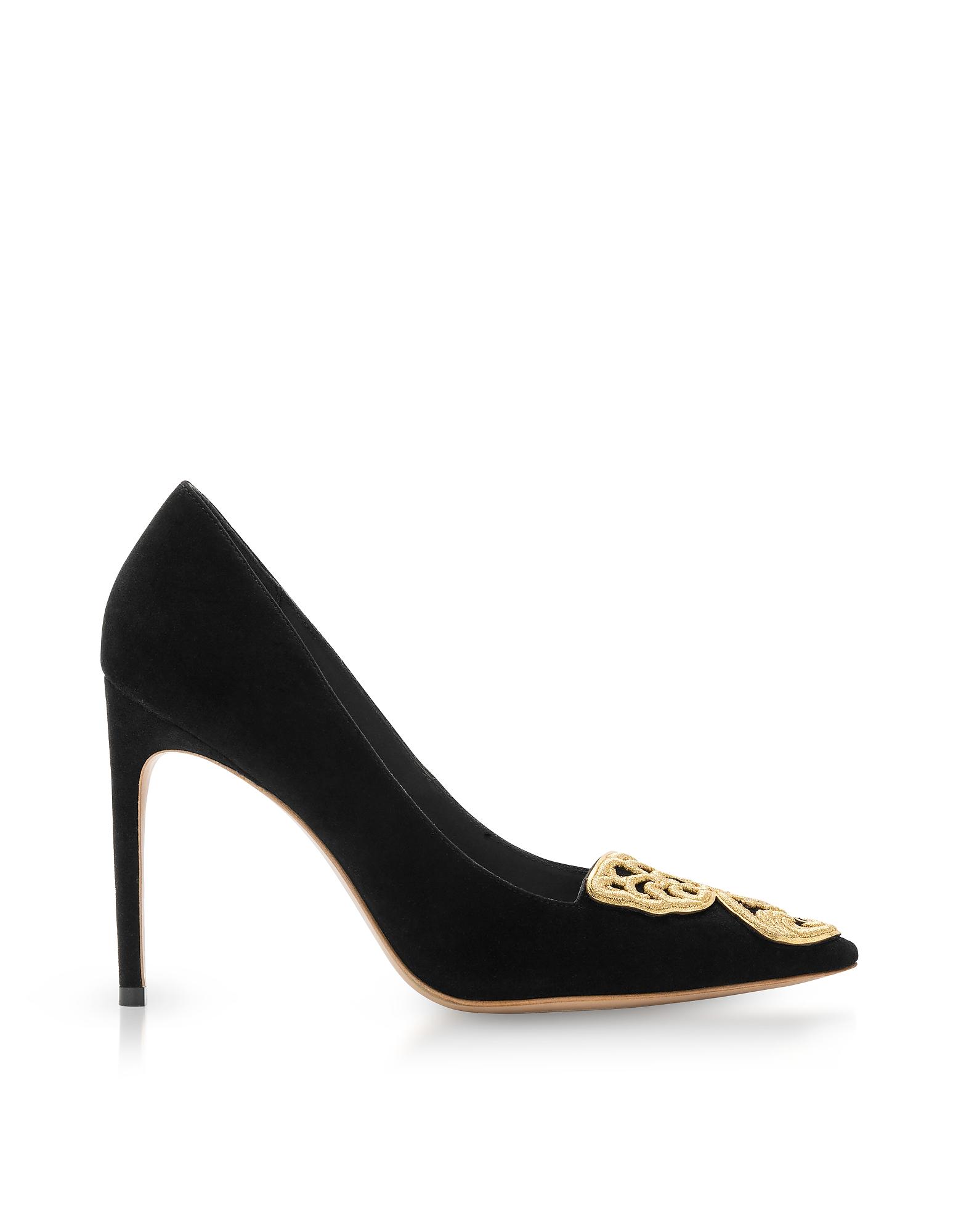 Sophia Webster Shoes, Black Suede Bibi Butterfly Rivera Pump