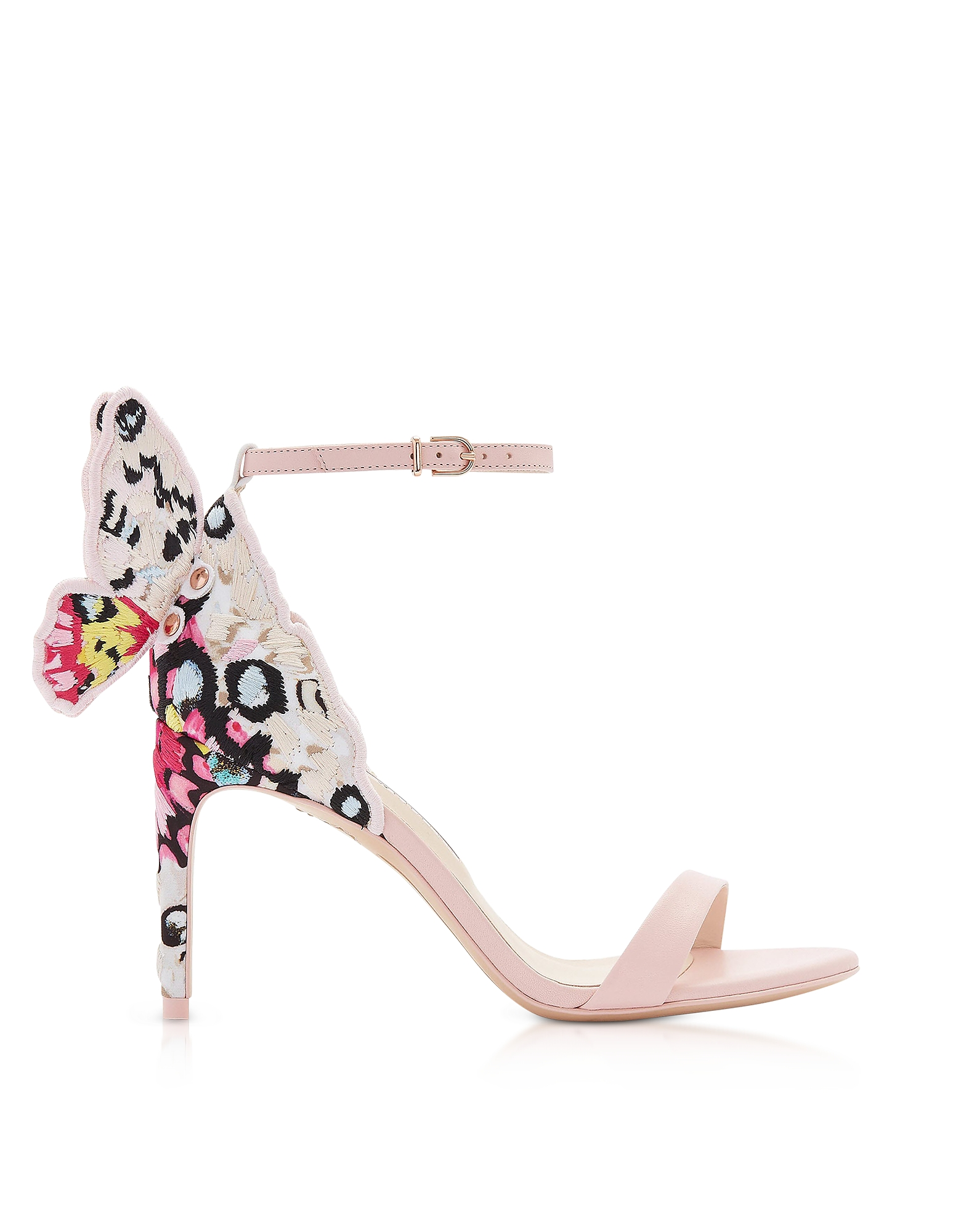 Sophia Webster Designer Shoes, Sophia Pink & Multi Chiara Embellished 85mm Sandals