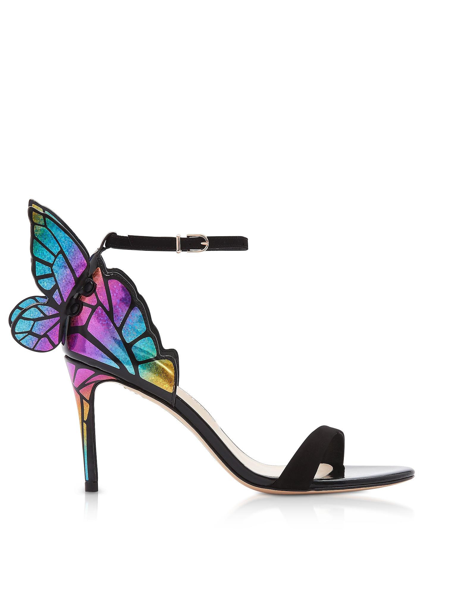 Black & Rainbow Chiara 85mm Sandals