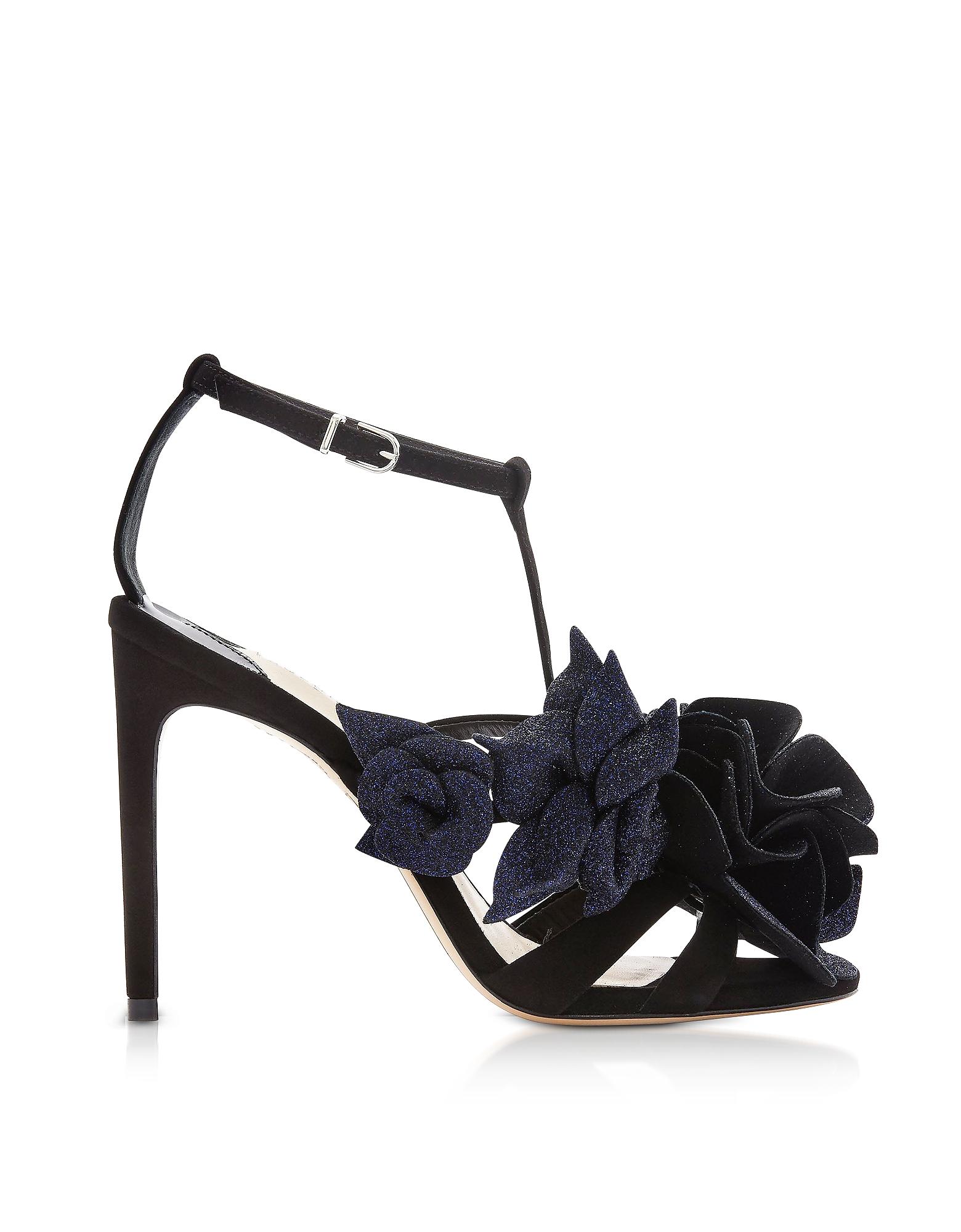 Sophia Webster Designer Shoes, Black & Midnight Jumbo Lilico Sandals