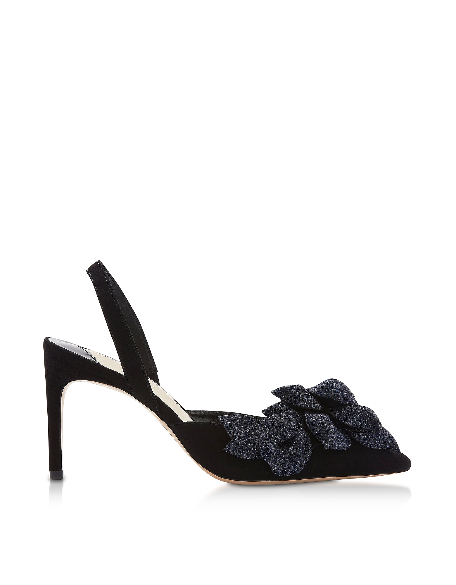Black & Midnight Jumbo Lilico Slingback Pumps