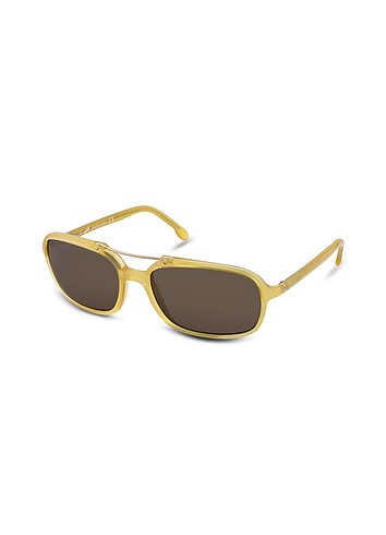 Web Class Light - Top Metal Bar Plastic Sunglasses :  eyewear web eyewear forzieri yellow