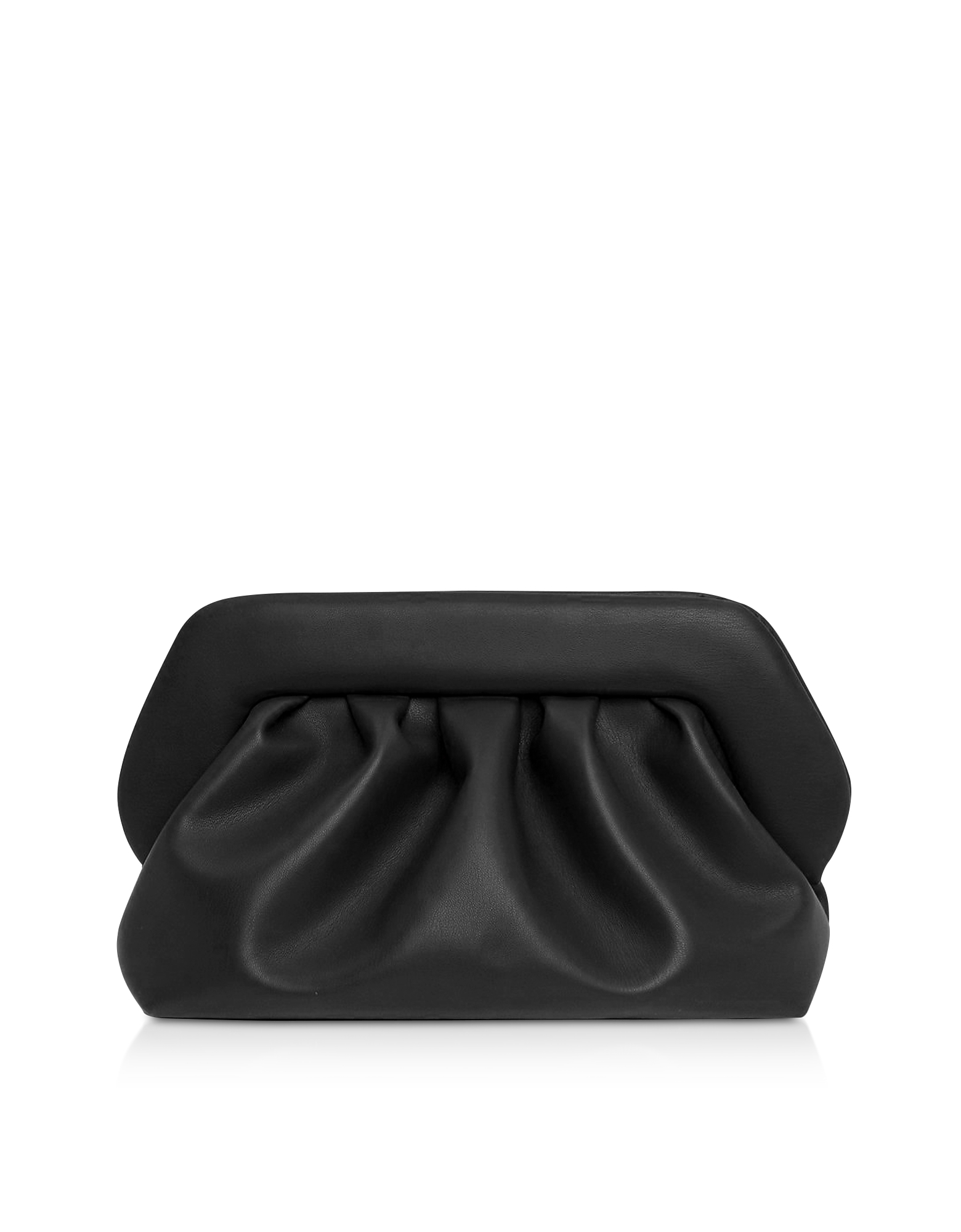 THEMOIRÉ Designer Handbags, Black Eco-Leather Pouch Bag
