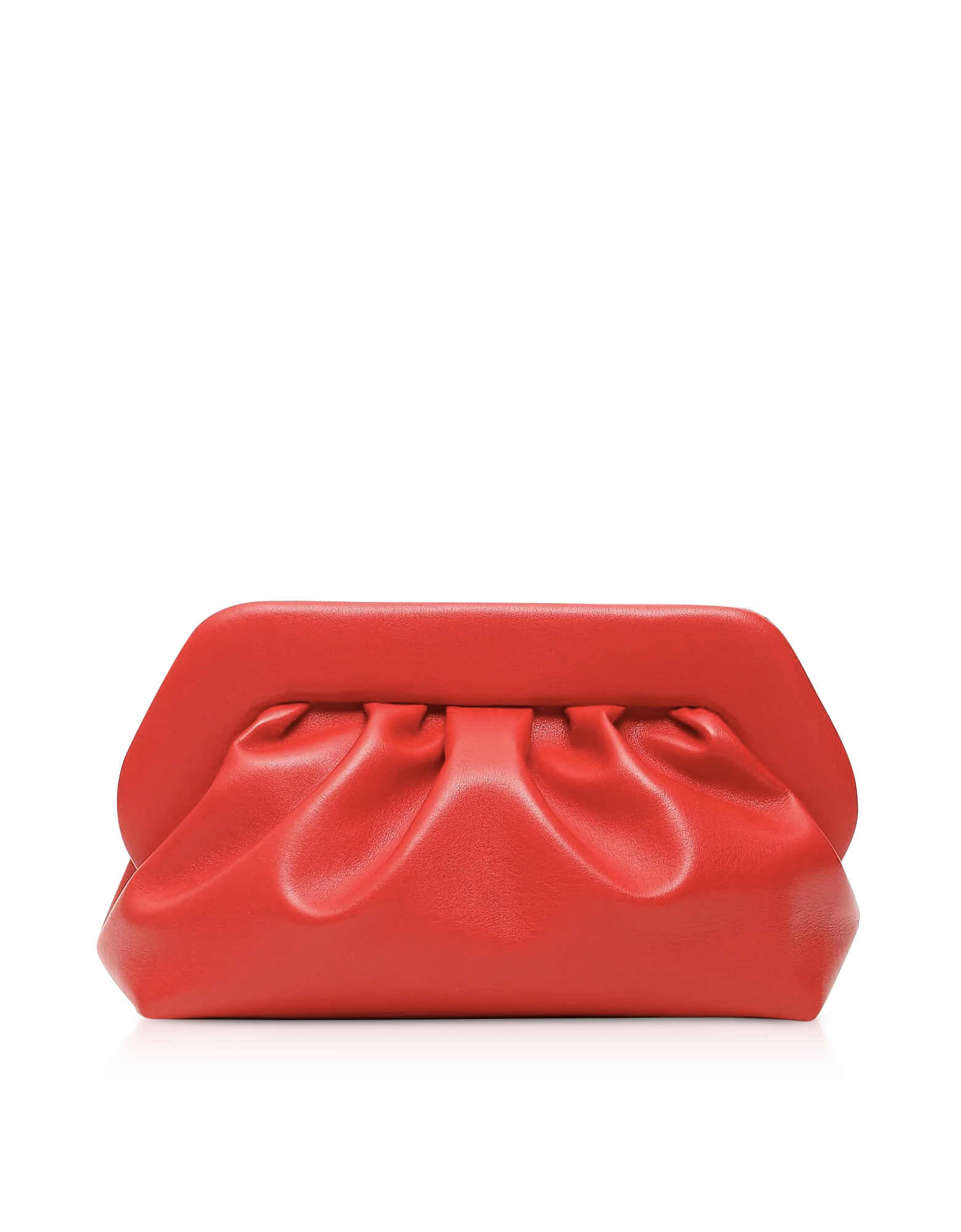 THEMOIRÉ Designer Handbags, Red Eco-Leather Pouch Bag
