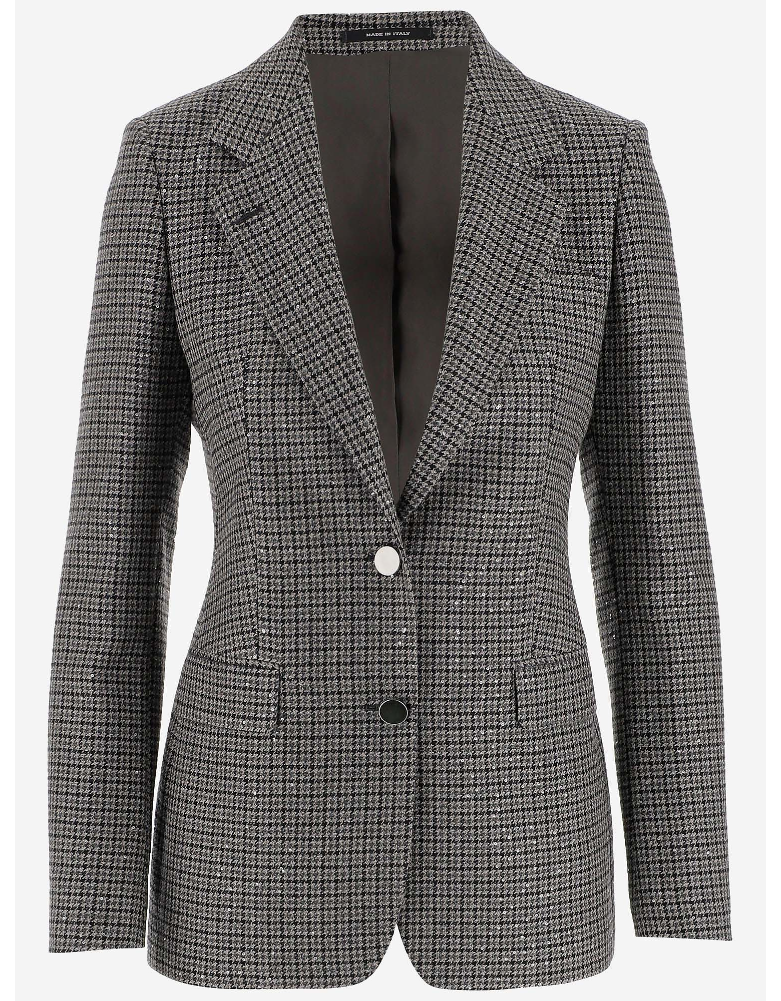 Tagliatore Designer Coats & Jackets, Wool Blend Women's Tailored Blazer