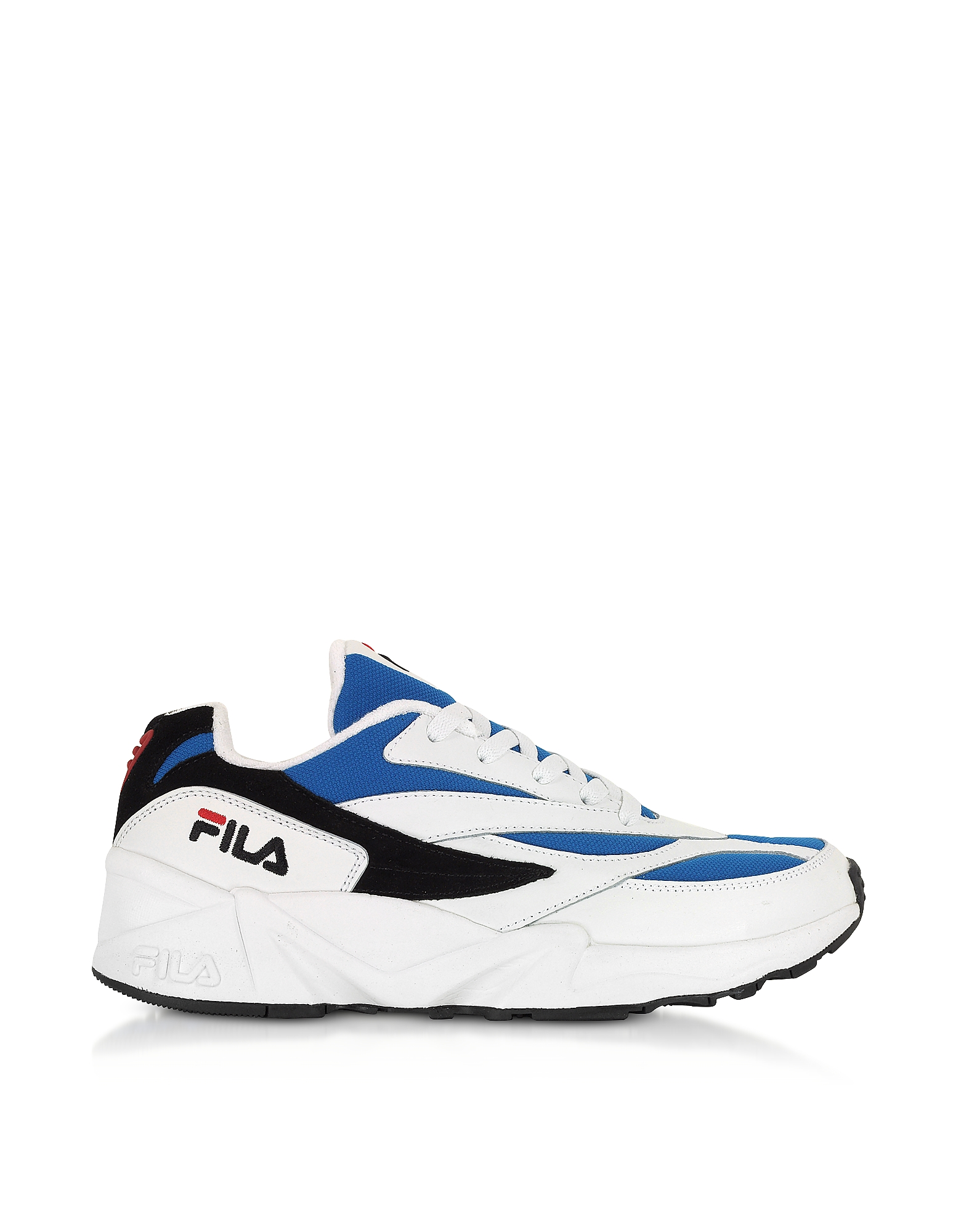 FILA Designer Shoes, V94M Low White & Electric Blue Men's Sneakers