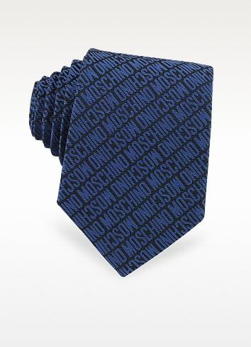 Moschino Signature Print Silk Jacquard Tie - Moschino