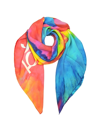 Moschino - Multicolor Indian Elephant Print Silk Square Scarf