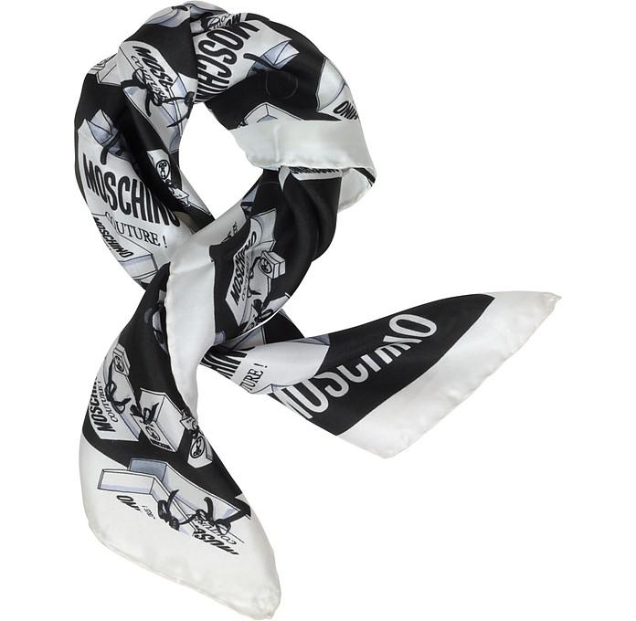 Moschino Couture Print Twill Silk Bandana - Moschino