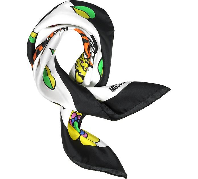 Moschino Crowned Tiger Print Silk Bandana - Moschino