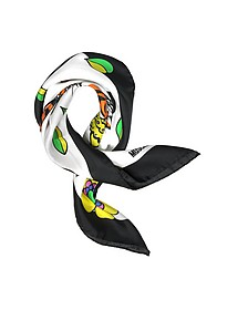 Moschino Crowned Tiger Print Silk Bandana - Moschino